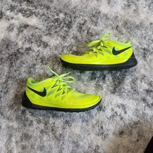 Nike Neon Running Shoes size 4y/5.5w